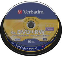 Disqe Verbatim DVD + RW, 10 copë