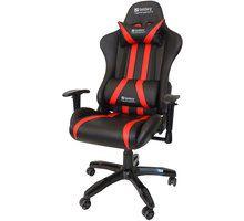 Karrige për lojëra Sandberg Commander, e zezë / e kuqe