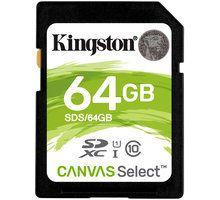 Kartë memorie Kingston SDXC Canvas Select, 64GB, 80MB/s, UHS-I