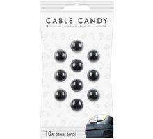 Organizues i kabllove Cable Candy Small Beans, 10 copë, të zeza