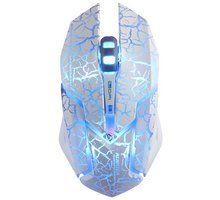 Maus E-Blue Auroza Gaming, i bardhë