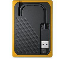 Hard disk WD My Passport GO - 500GB, i verdhë